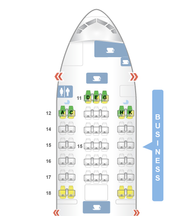 Cathay Pacific new regional business class Bangkok to ...