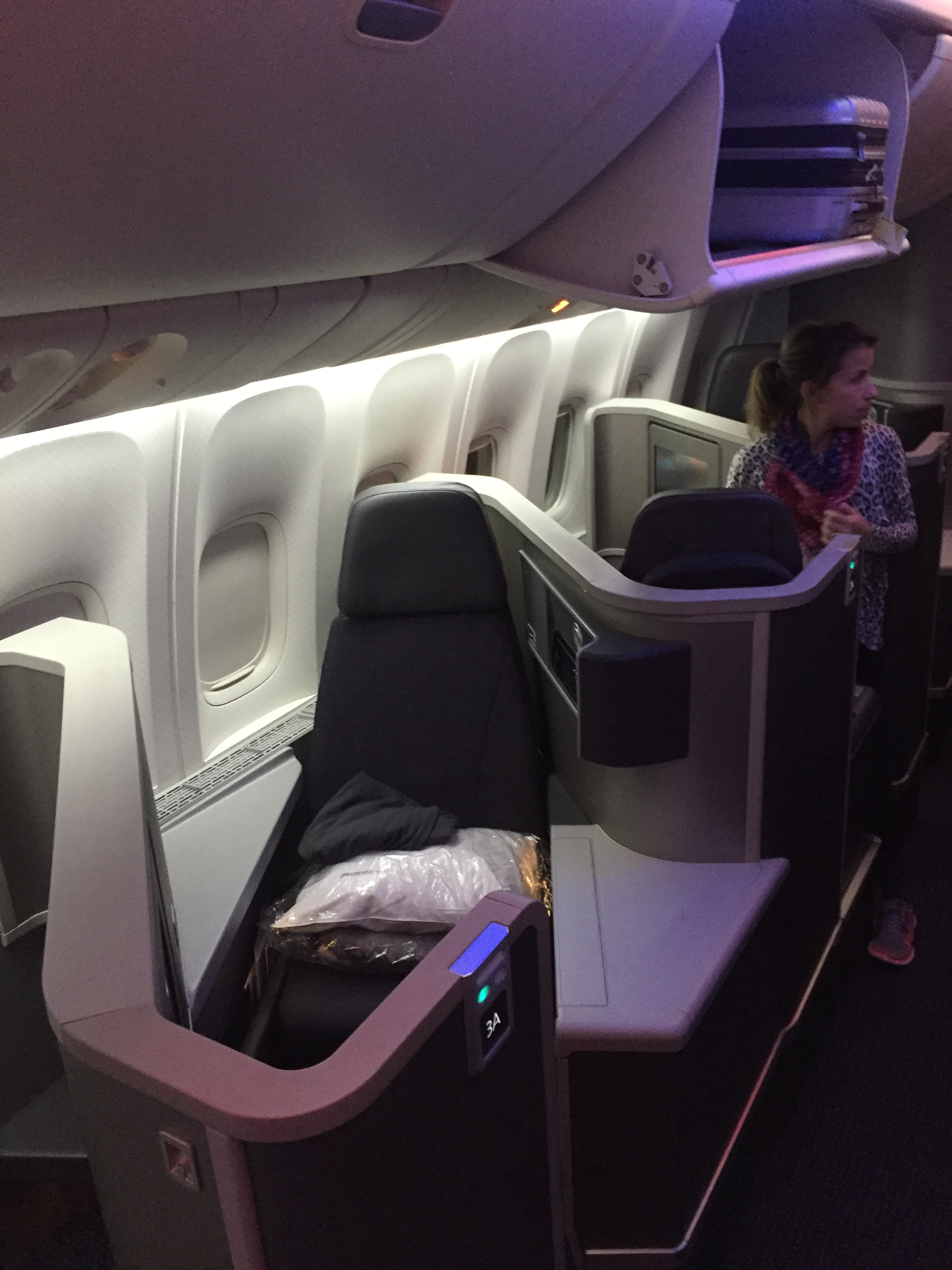 American Airlines 772 New Zodiac Business Class New York