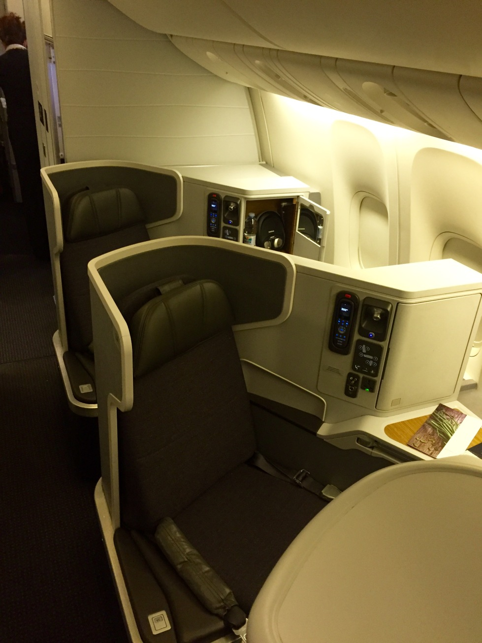 American Airlines 77W business class, mini-cabin